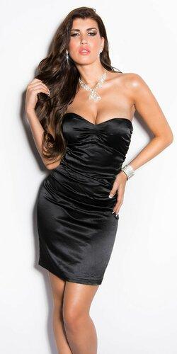 Elegantné kokteilové šaty ,,Miranda K. look,, Čierna