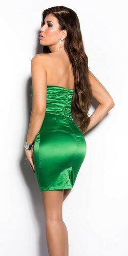 Elegantné kokteilové šaty ,,Miranda K. look,, Zelená