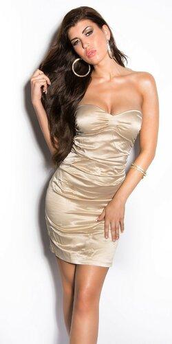 Elegantné kokteilové šaty ,,Miranda K. look,, Zlatá