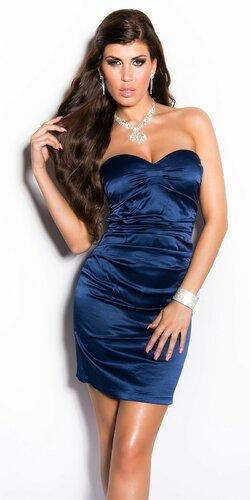 Elegantné kokteilové šaty ,,Miranda K. look,, | Tmavomodrá