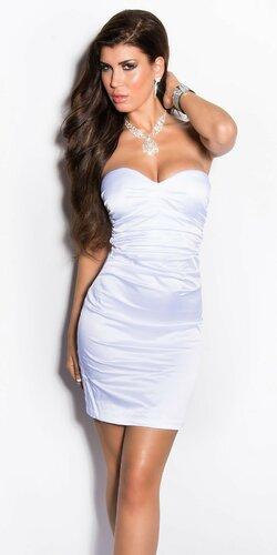Elegantné kokteilové šaty ,,Miranda K. look,, | Biela