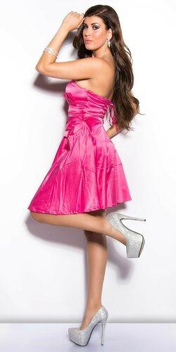 Dámske korzetové šaty Ružová