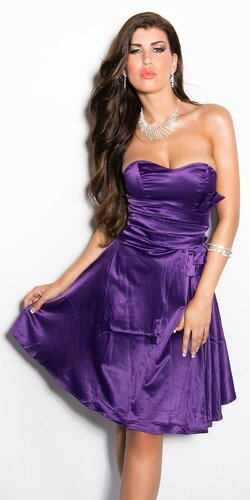 Dámske korzetové šaty Fialová