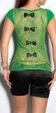 Dámske tričko s priesvitným chrbtom v 11 farbách Zelená