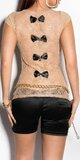 Dámske tričko s priesvitným chrbtom v 11 farbách Béžová