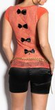 Dámske tričko s priesvitným chrbtom v 11 farbách Koralová