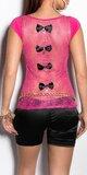 Dámske tričko s priesvitným chrbtom v 11 farbách Ružová
