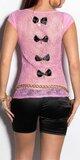 Dámske tričko s priesvitným chrbtom v 11 farbách Bledá ružová
