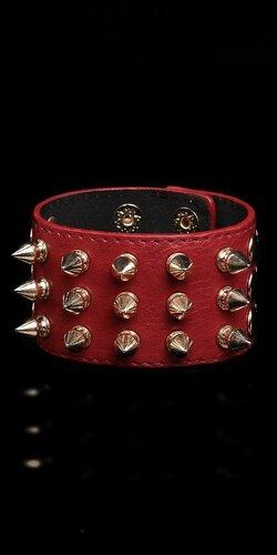 Dámsky vybíjaný náramok | Červená