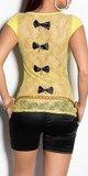 Dámske tričko s priesvitným chrbtom v 11 farbách Žltá