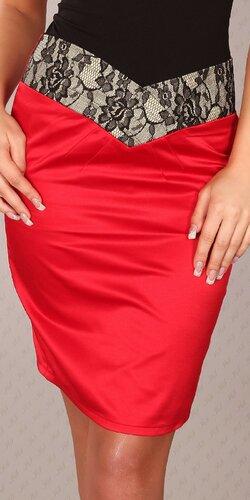 Štýlová dámska sukňa ,,pencil style,, | Červená