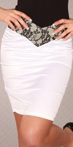 Štýlová dámska sukňa ,,pencil style,, | Biela