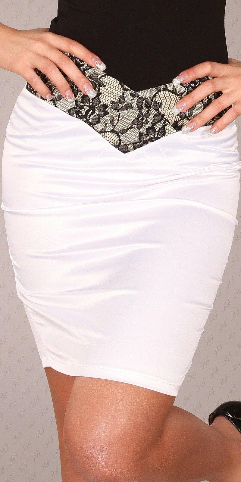 Štýlová dámska sukňa ,,pencil style,, #Veľkosť 40 (L) Farba Biela