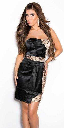 Dámske kokteilové šaty | Leopard