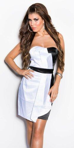 Dámske kokteilové šaty | Biela