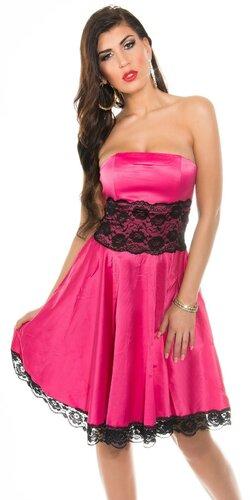 Dámske šaty s čipkou | Ružová