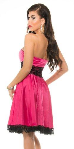 Dámske šaty s čipkou Ružová