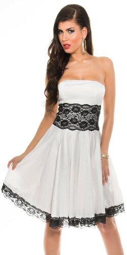 Dámske šaty s čipkou | Biela