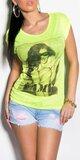 Dámske tričko ,,FAME,, Žltá