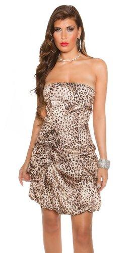 Družičkovské šaty Leopard