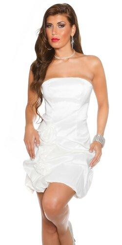 Družičkovské šaty Biela