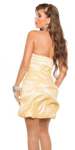 Družičkovské šaty Žltá