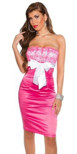 Koktejlové šaty Bledá ružová