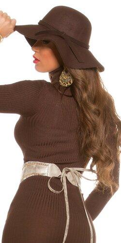 Dámsky štýlový klobúk Hnedá