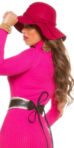 Dámsky štýlový klobúk Ružová