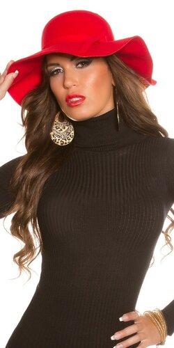Dámsky štýlový klobúk | Červená