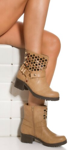 Dámske topánky s nízkym opätkom Béžová