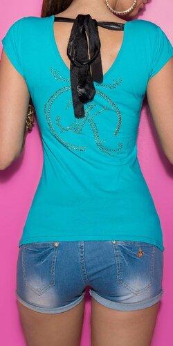 Dámske Tričko so šnúrkami na chrbte