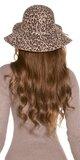 Dámsky klobúk s leopardím vzorom Béžová