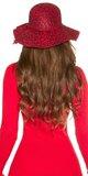 Dámsky klobúk s leopardím vzorom Červená