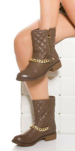 Dámske topánky s retiazkou v zlatej farbe