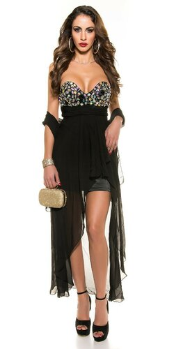 Dámske štýlové večerné šaty Čierna