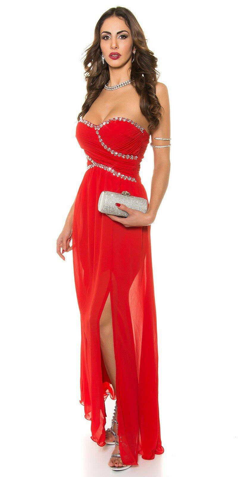 Dámske značkové večerné šaty #Veľkosť XL Farba Červená