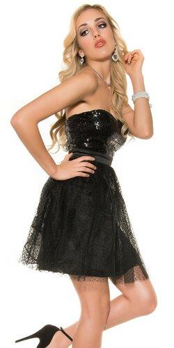 Dámske party kokteilové šaty | Čierna