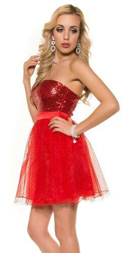 Dámske party kokteilové šaty | Červená