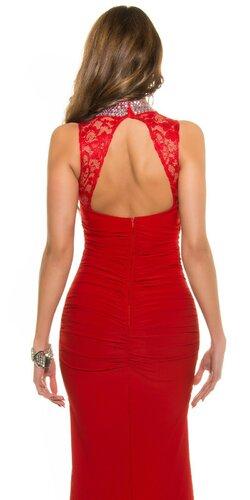 Dámske značkové plesové šaty Červená