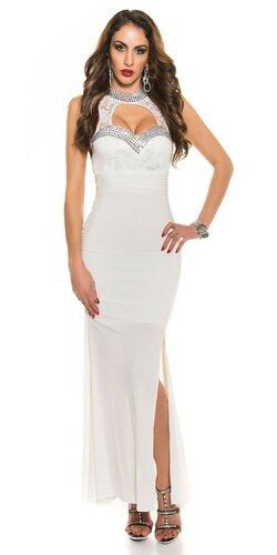 Dámske značkové plesové šaty Biela