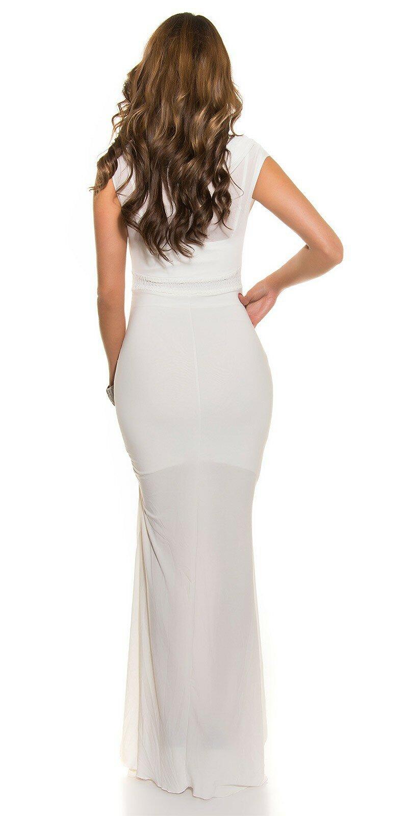 Plesové šaty s kamienkovým pásom