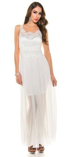 Dámske plesové šaty KouCla Biela