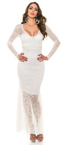 Dámske večerné šaty KouCla | Biela