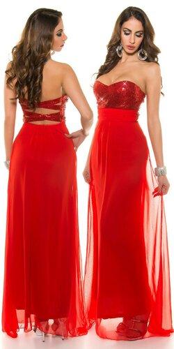 Nádherné dámske plesové šaty ,,Luxury,, Červená
