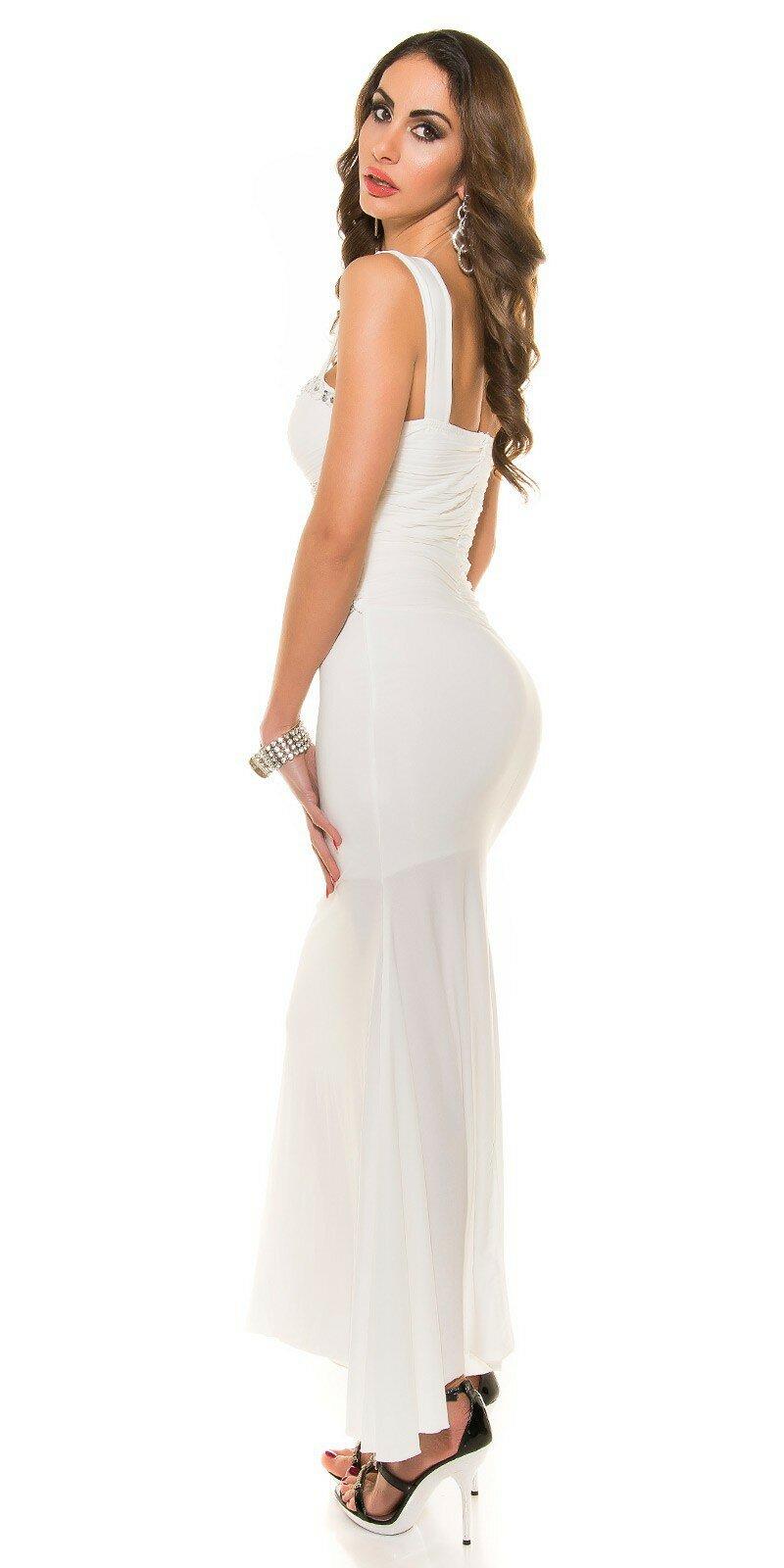 6b72f5e4d7d Dámske plesové šaty s kamienkami  Veľkosť S Farba Biela