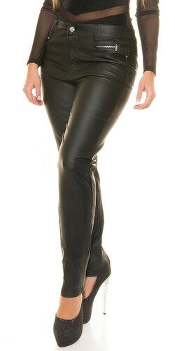 Nohavice koženého vzhľadu pre moletky
