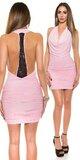 Dámske ,,party,, mini šaty Bledá ružová