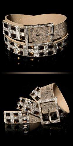 Dámsky opasok s kamienkami | Zlatá