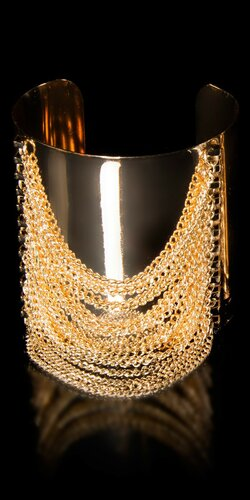 Dámsky štýlový náramok s retiazkami Zlatá